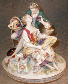 Royal VIENNA Figural GROUP - ANTIQUE -