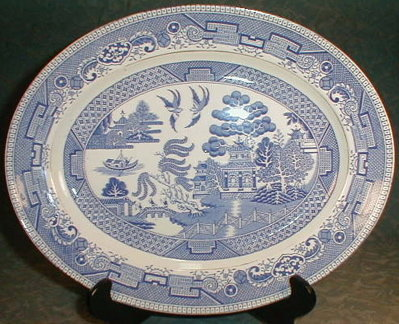 Blue WiLLOW Platter MYOTT -12 inch-