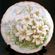 Buffalo POTTERY Plate EASTER Lily - ANTIQUE -