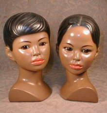 MARWAL Busts BOY Girl Asian -  PAIR -