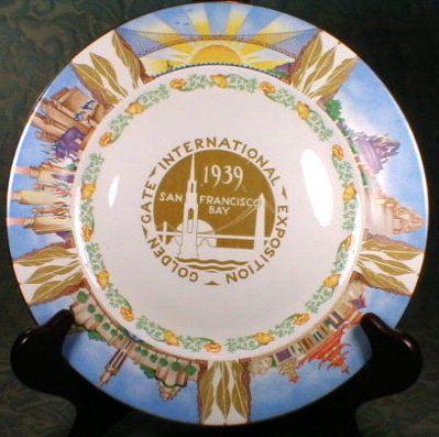 GOLDEN Gate EXPO Plate - 1939 - San Francisco -