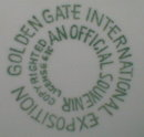 GOLDEN Gate EXPO Plate - 1939 - San Francisco -