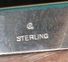 STERLING Frame VINTAGE Currier & Roby BAKELITE-