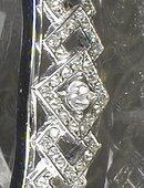 DECO Rhinestone BANGLE Cuff BRACELET -Vintage-