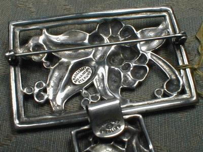 DANECRAFT Sterling Brooch & Bracelet -VINTAGE -