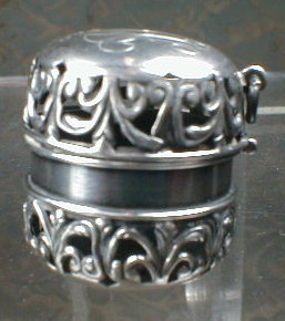 STERLING Chatelaine THIMBLE Holder - ANTIQUE -