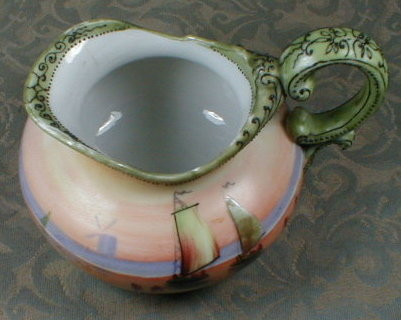 NIPPON Pitcher HAND Painted - Dutch Moriage -