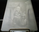 PPM Lithophane PANEL Peasant Cottage -ANTIQUE-