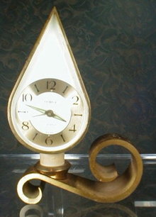 SEMCA Teardrop Alarm Clock Swiss - 7 Jewels -