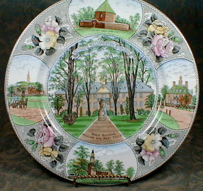 WILLIAMSBURG Souvenir PLATE - Adams/ Jonroth -