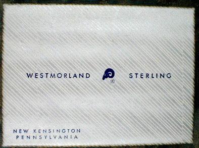 Westmorland Cambridge Salt SET Sterling+Glass -