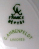 LIMOGES Soup BOWLS -4-  Ahrenfeldt -ANTIQUE-