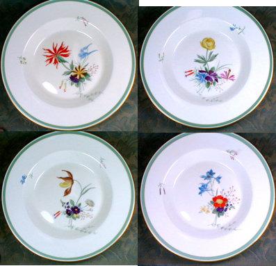 Royal COPENHAGEN Fiesta SOUP Plate (4) -H. P. - & Antiques Art Vintage