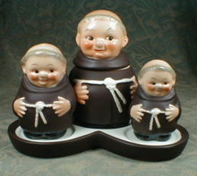 GOEBEL Friar TUCK Condiment  4 pc SET -VINTAGE-