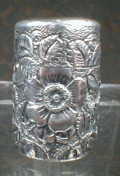 Whiting STERLING Chatelaine BOBBIN Repoussee