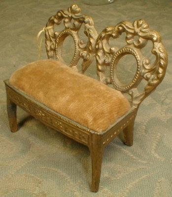 Miniature SETTEE Dollhouse SOFA - Antique -