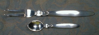 Georg Jensen CACTUS Mocha Spoon - STERLING -