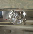 STERLING Elephants TRAY Oval -