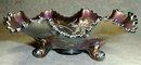 NORTHWOOD Wishbone Bowl - RED Carnival GLASS -