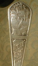 STERLING Nursery RHYME Fork - Little Boy Blue -