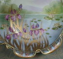 NIPPON Irises BOWL moriage - ANTIQUE -