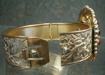 RHINESTONE Cuff BRACELET Bohemian Style VINTAGE