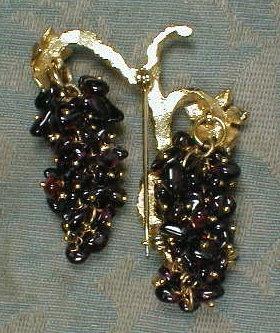 AMETHYST Grape ViNE Pin - VINTAGE -