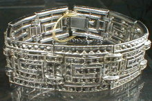 Deco MARCASITE Paste BRACELET - Antique -