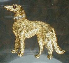 NEMO Hound PIN Brooch RHINESTONES - Vintage -