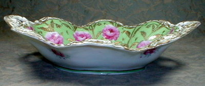 NIPPON Moriage BOWL Hand Painted - ANTIQUE -