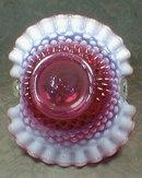FENTON Hobnail BASKET Cranberry - VINTAGE -