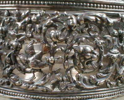 MERIDEN Silver Filigree Ferner - ANTIQUE -