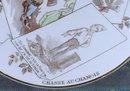 SARREGUEMINES Plate - Hunting for Pelts - ANTIQUE