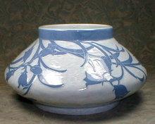 Gustafsberg Vase 1902 Blue & White SIGNED