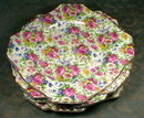 ROYAL WINTON Summertime CHINTZ Square plate - 8 inch -