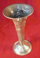 STERLING Repousse VASE AG Schultz - ANTIQUE -