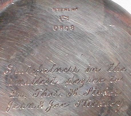 STERLING Repousse VASE AG Schultz - ANTIQUE -