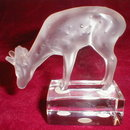 LALIQUE Crystal DEER Fawn Figurine - FRANCE -