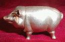 Pig MATCH Safe STERLING Silver - ANTIQUE -