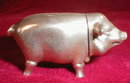 Pig MATCH Safe STERLING Silver - ANTIQUE -