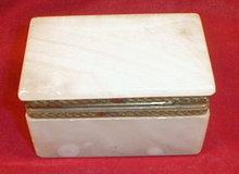 ALABASTER Hinged BOX - I Magnin - VINTAGE