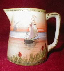 NIPPON Creamer JUG Moriage DUTCH Scene ANTIQUE