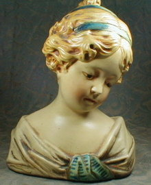 CHALKWARE Painted Bust - GIRL -