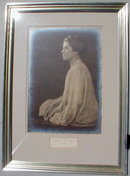 Grace COOLIDGE Autograph & Portrait FRAMED - 1928 -