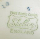 SHELLEY Dainty BLUE Trio - Cup SAUCER Plate -