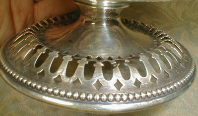 STERLING Pierced COMPOTE Bonbon Dish - ANTIQUE -