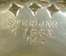 STERLING Pierced COMPOTE Bonbon Dish - ANTIQUE -