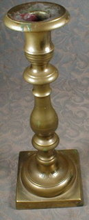 SPANISH Brass Candlesticks 19th C.  - ANTIQUE -