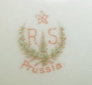 RS Prussia IRIS Mold CHOCOLATE Pot WREATH Mark - ANTIQUE -