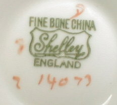 Shelley PAISLEY HENLEY - Cup and Saucer -